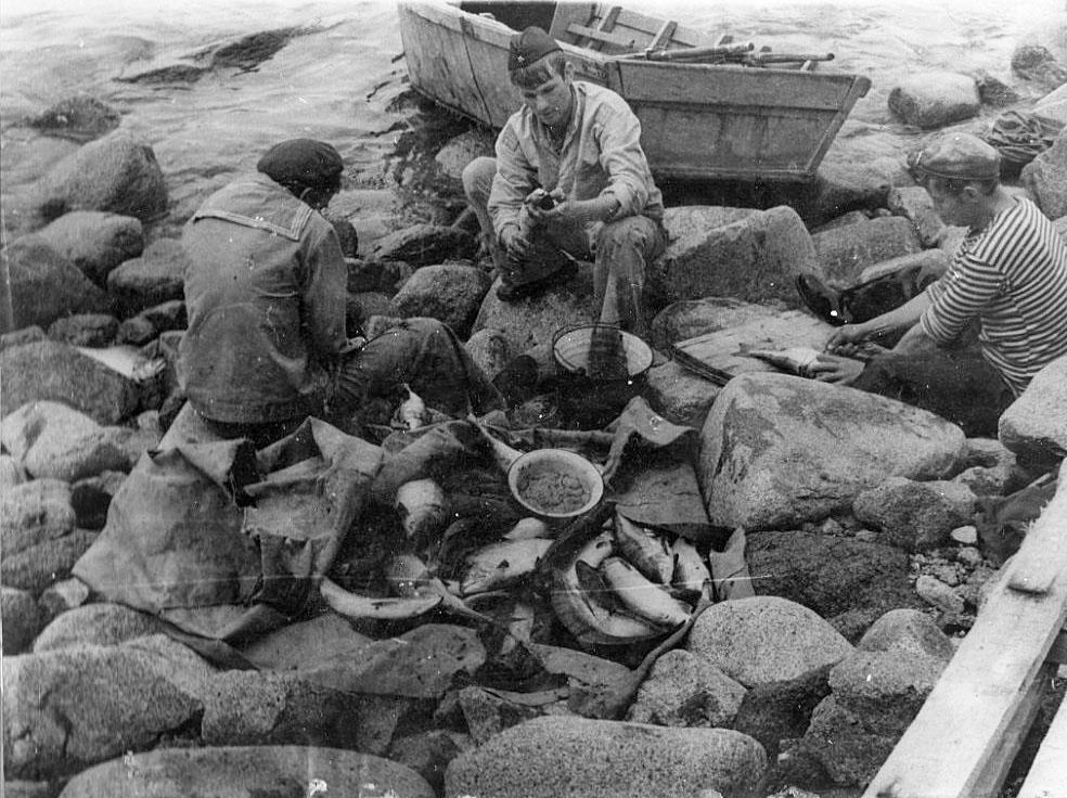 Разделка добычи после рыбалки