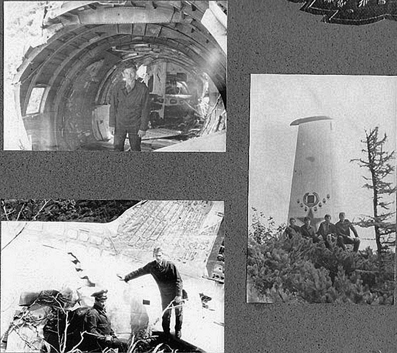 Место трагедии и памятник погибшему экипажу самолета ИЛ-14