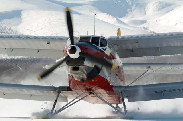 Ан-3. Посадка на Магадан-47 (Уптар).