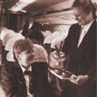 Магаданские стюардессы в салоне Ил-18