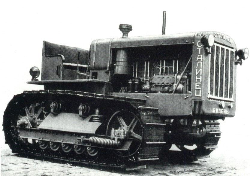 ЧТЗ-60. С 1933 года, когда из заводских ворот вышли первые челябинские машины. Это были гусеничные тракторы «Сталинец-60» (С-60) мощностью 60 лошадиных сил, работающие на лигроиновом топливе.