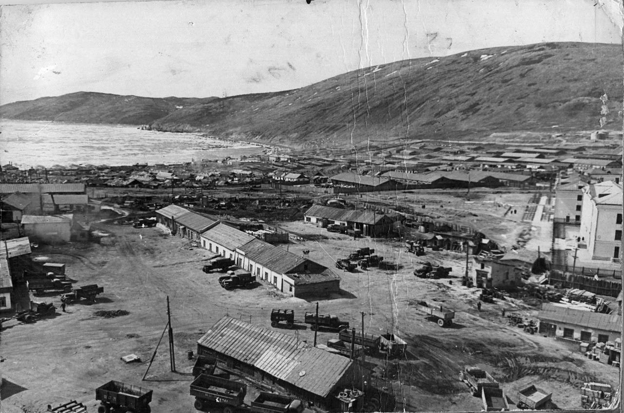 Магадан. Бухта Нагаева. 1959 год.