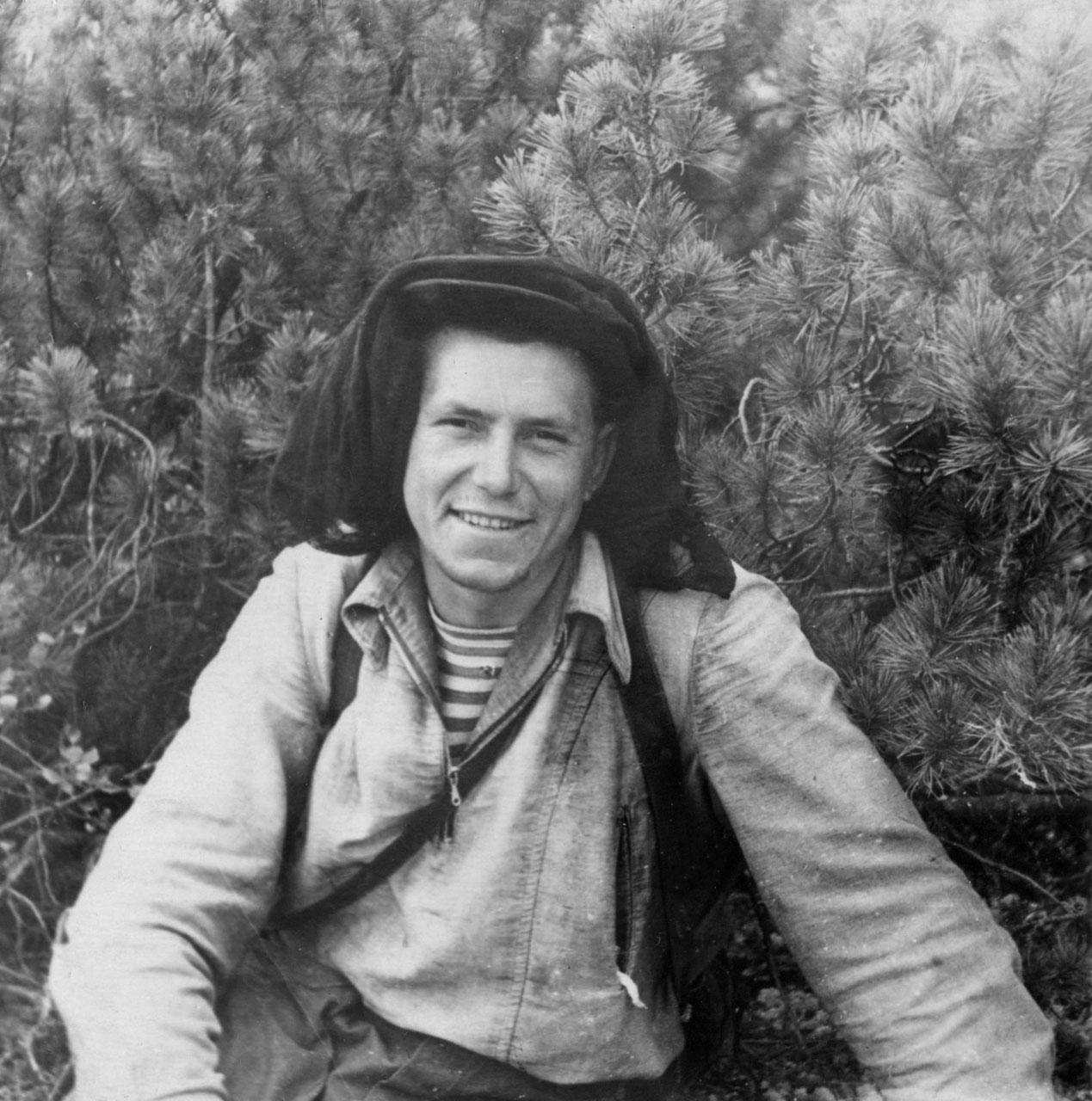Афанасьев В.И. на маршруте. Фото из архива Елены Афанасьевой-Демчук.