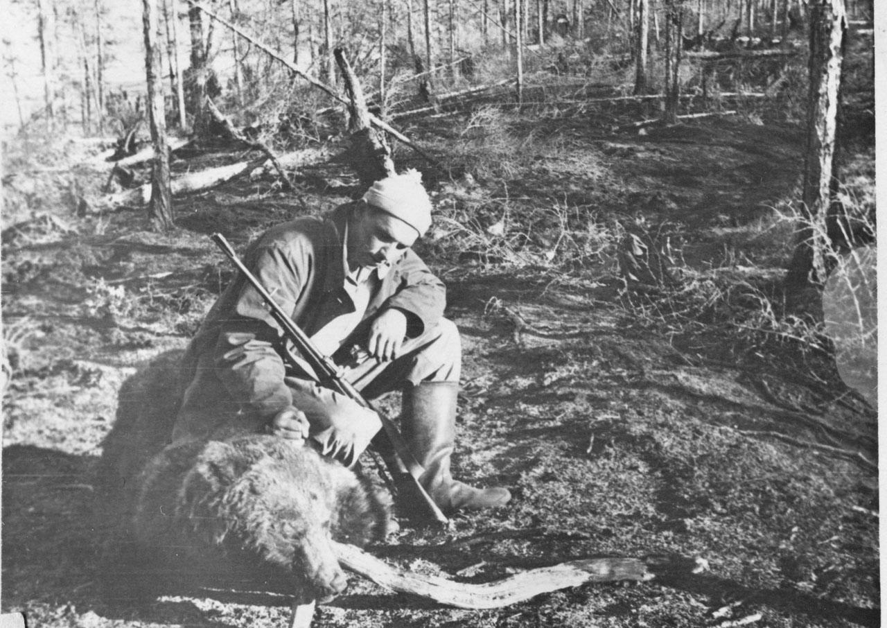 Медведь-убийца. 1956 год. Фото из архива Елены Афанасьевой-Демчук.