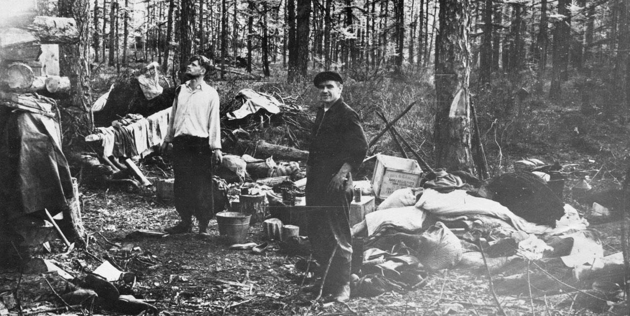 Пожар на базе. 1958 год. Фото из архива Елены Афанасьевой-Демчук.