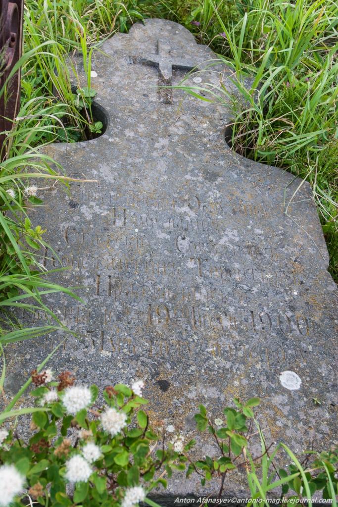 Надгробная плита на могиле Константина Терентьевича Пржевалинского.