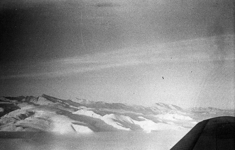 Под крылом самолета - Верхоянcкий хребет.