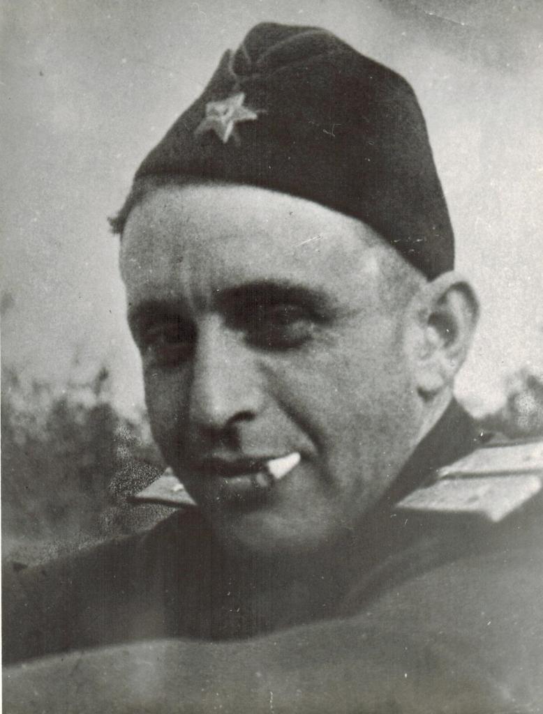 Капитан Д.С. Шерль. Адъютант командира перегоночной дивизии И.П. Мазурука.