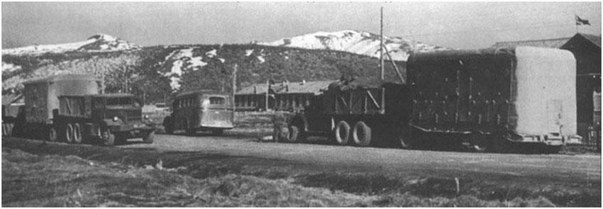 Тяжелый тягач Diamond T980 на колымском тракте, 1946 год