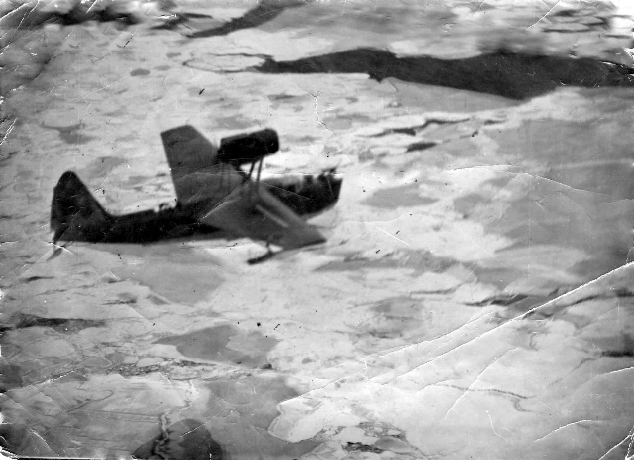 МБР-2 на ледовой авиаразведке.