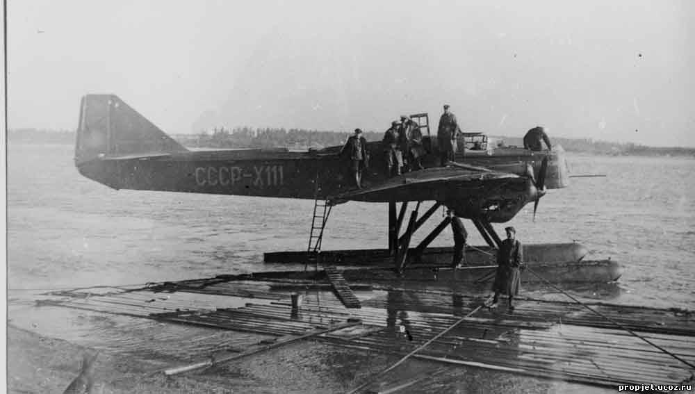 МП-6 «Х-111» авиаотряда Дальстроя. На нем летал летчик Маламуж.