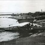 Самолет летчика С. Леваневского Дорнье «Валь» СССР Н–8, на котором он приземлялся в бухте Нагаева в начале лета 1933 года