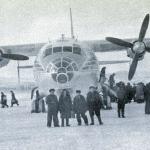 Ан-10 в аэропорту «Магадан». 60-е годы XX века.