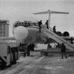 Ил-62 в аэропорту города  Магадана.
