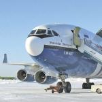 Грузовой Ил-96-400 стал частым гостем магаданской земли. Ноябрь 2010 года.