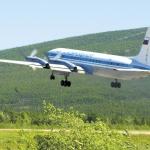 Неутомимый труженик Ил-18 и сегодня прилетает в Магадан. Июнь 2008 года.
