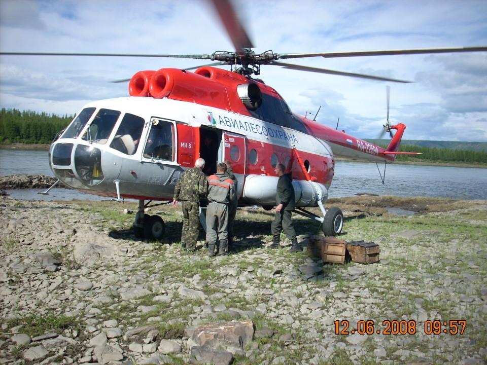 Ми-8. Авиалесоохрана на работе.