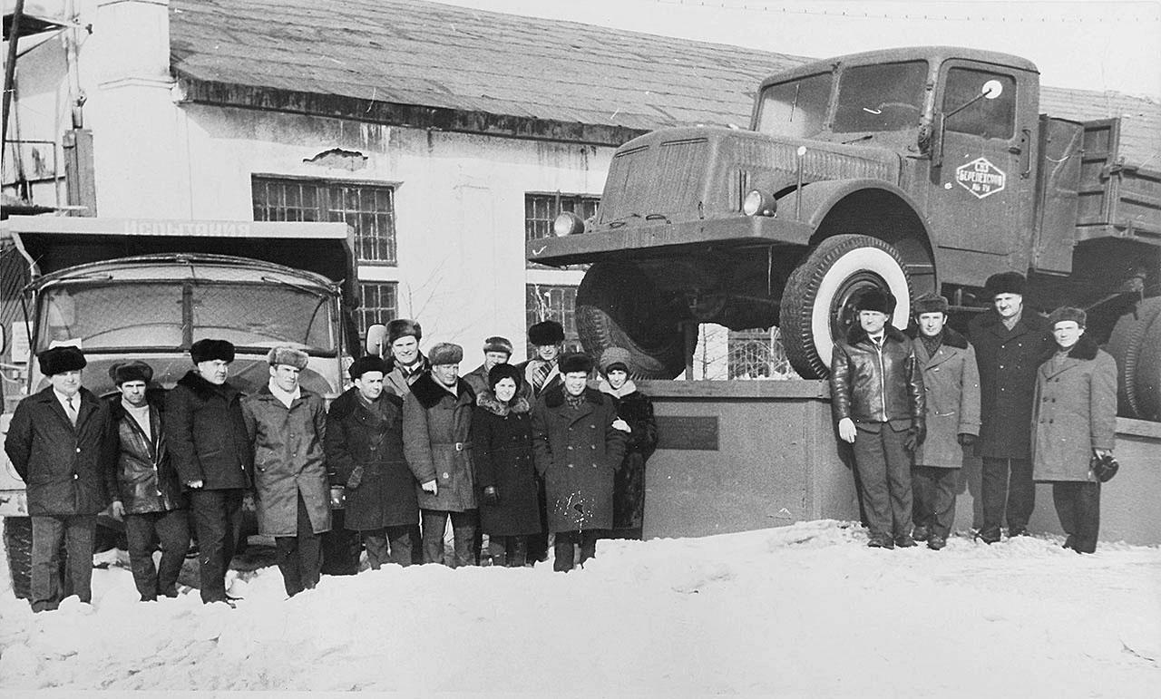 Открытие памятника Татра-111 в пос. Берелех