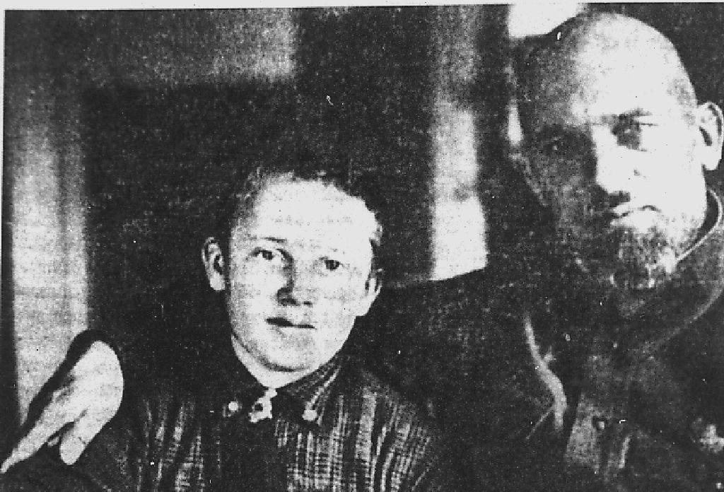 Эдуард Берзин с сыном Петром