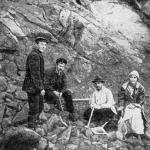 А.К. Болдырев (второй справа) на полевых работах в Забайкалье.