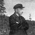 А.К. Болдырев во время поездки по бассейну реки Колымы (долина реки Теньки; 1944 г.).