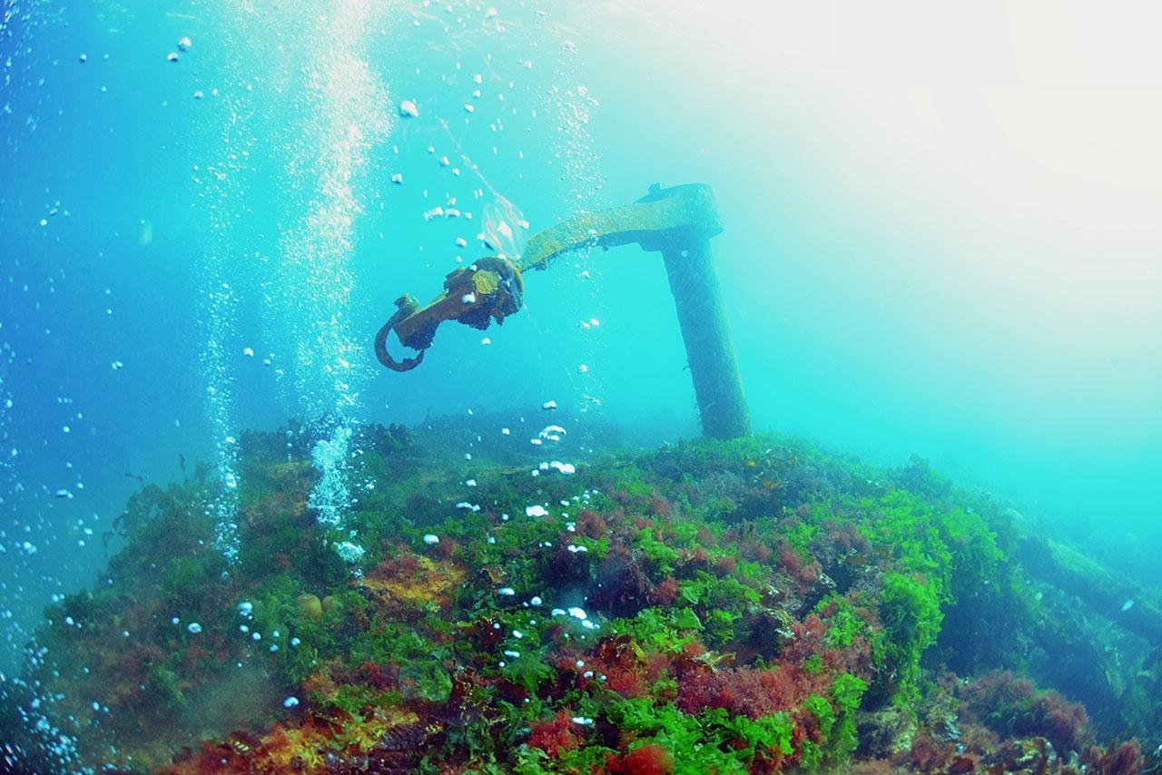 Пароход «Выборг» на дне бухты Нагаева.
