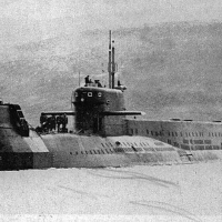 Лодка БС проекта 940, подготовленная для перехода северным морским путем, 1980 год.