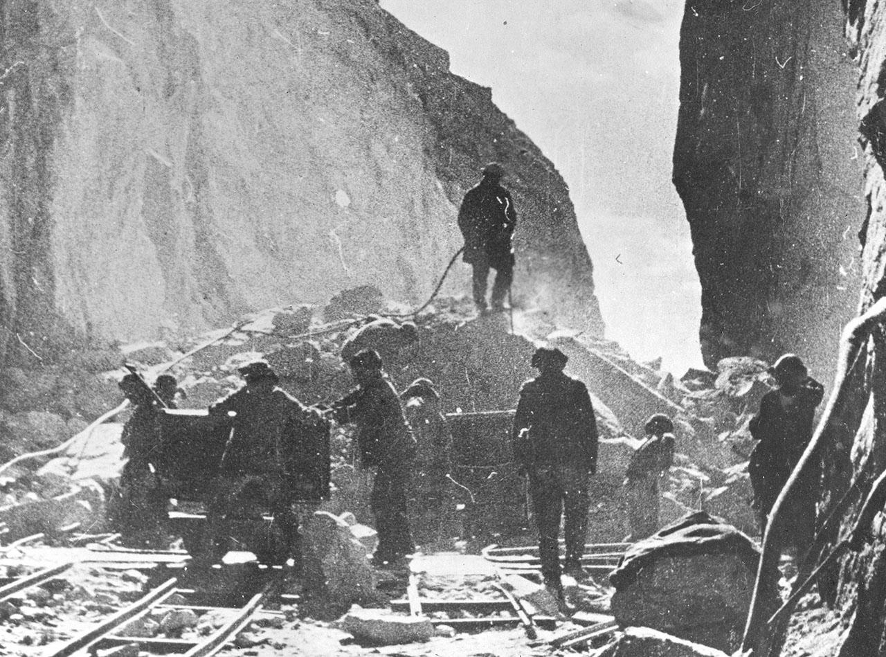 Рудник Бутугычаг. Добыча и и транспортировка руды.