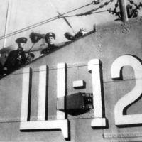 Комсостав подводной лодки Щ-121 слева направо: В.М. Щербатов, Ивановский Н.С., Власов В.Я.
