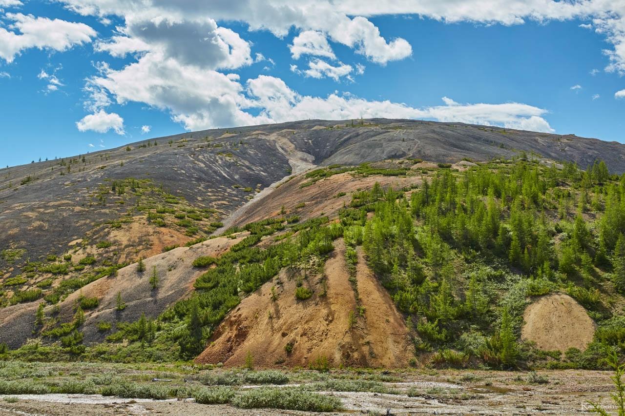«Оловянная» гора. Хета. Июль 2017 года.