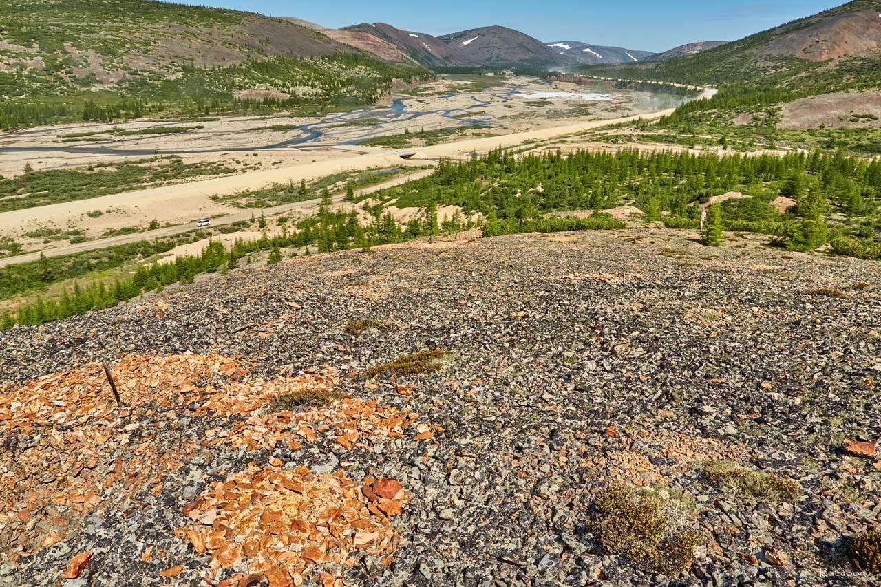 Один из склонов «оловянной» горы. Хета. Июль 2017 года.