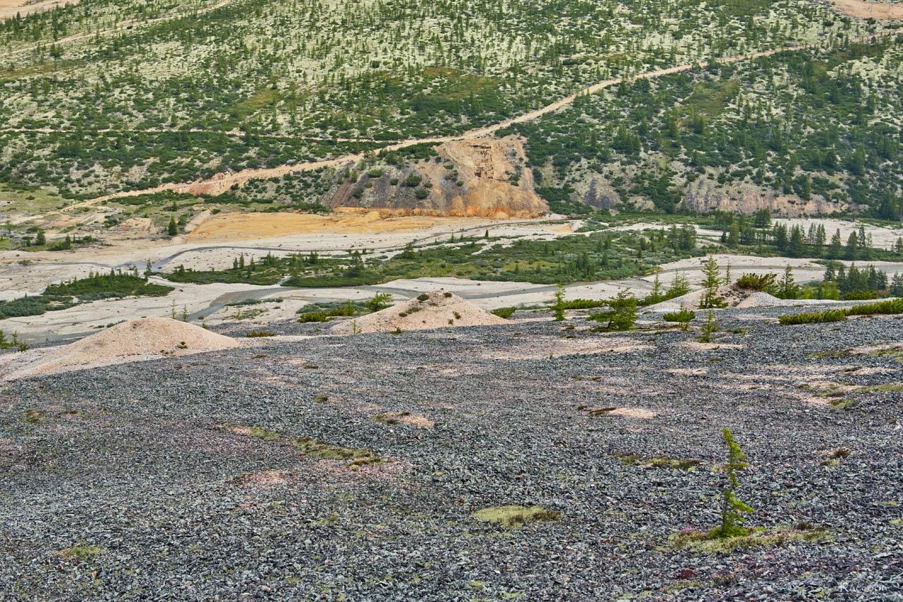 Вид со склона «оловянной» горы.