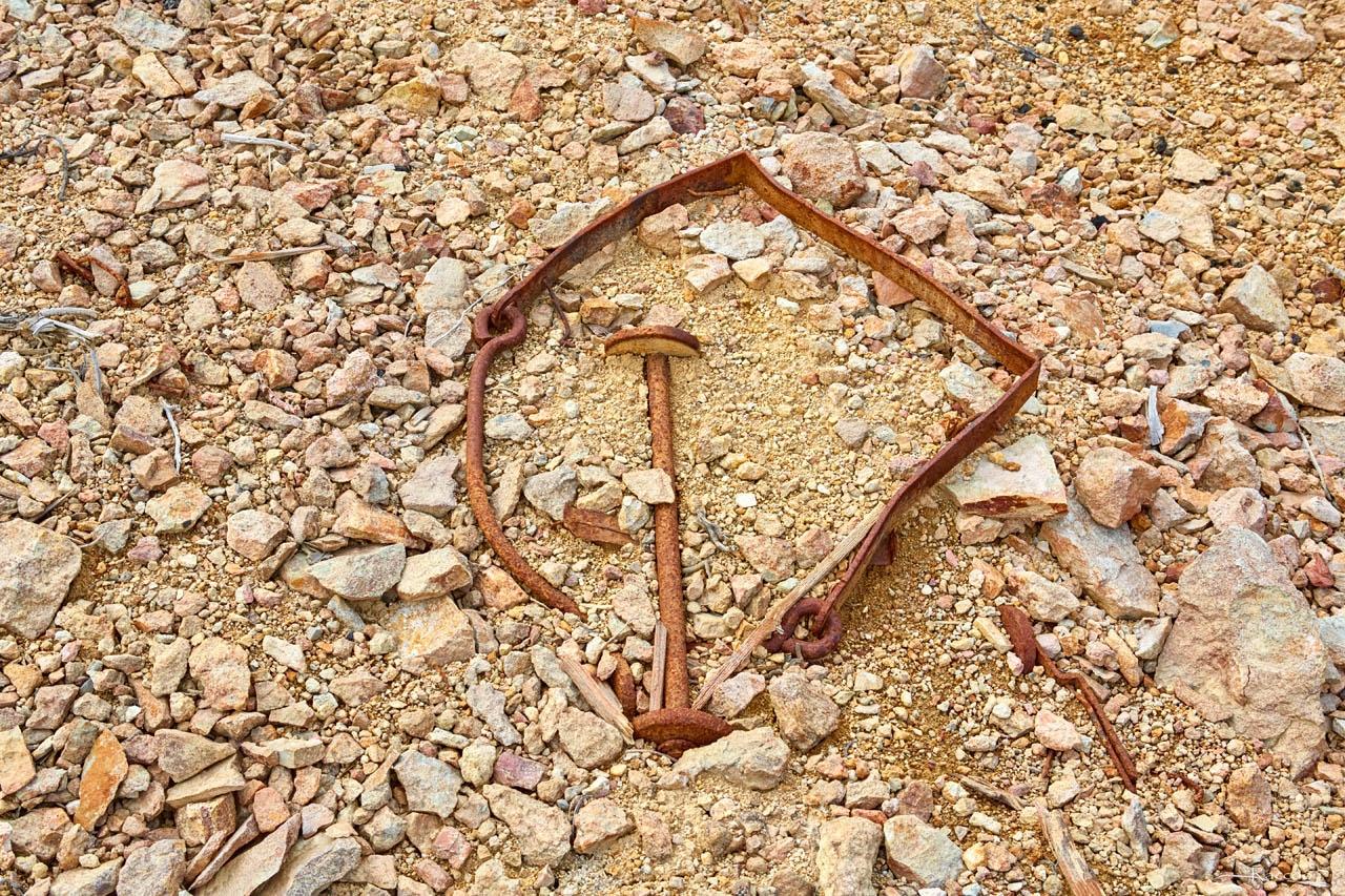 Крепеж от бадьи для поднятия породы из шахтного ствола. Рудник Хета. Июль 2017 года.