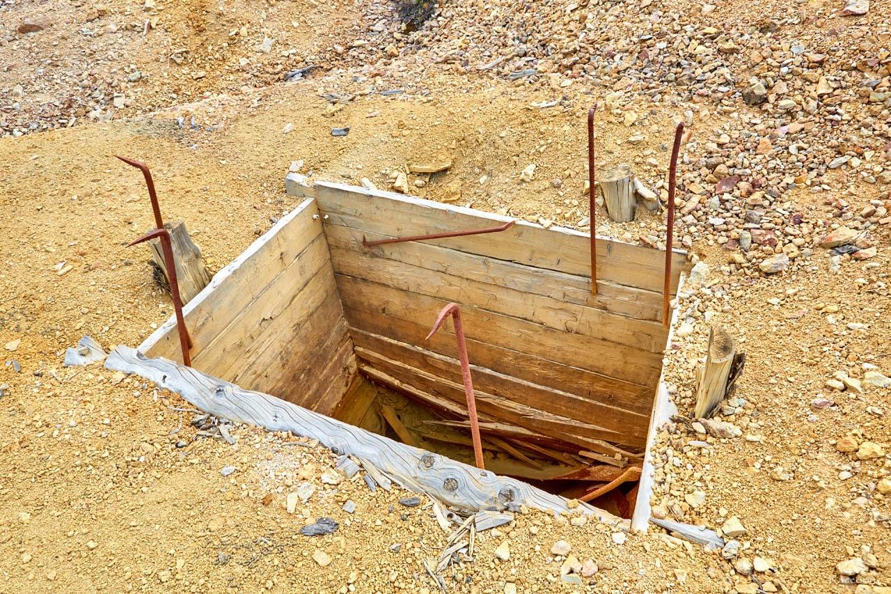 Шахтный ствол. Рудник Хета. Июль 2017 года.