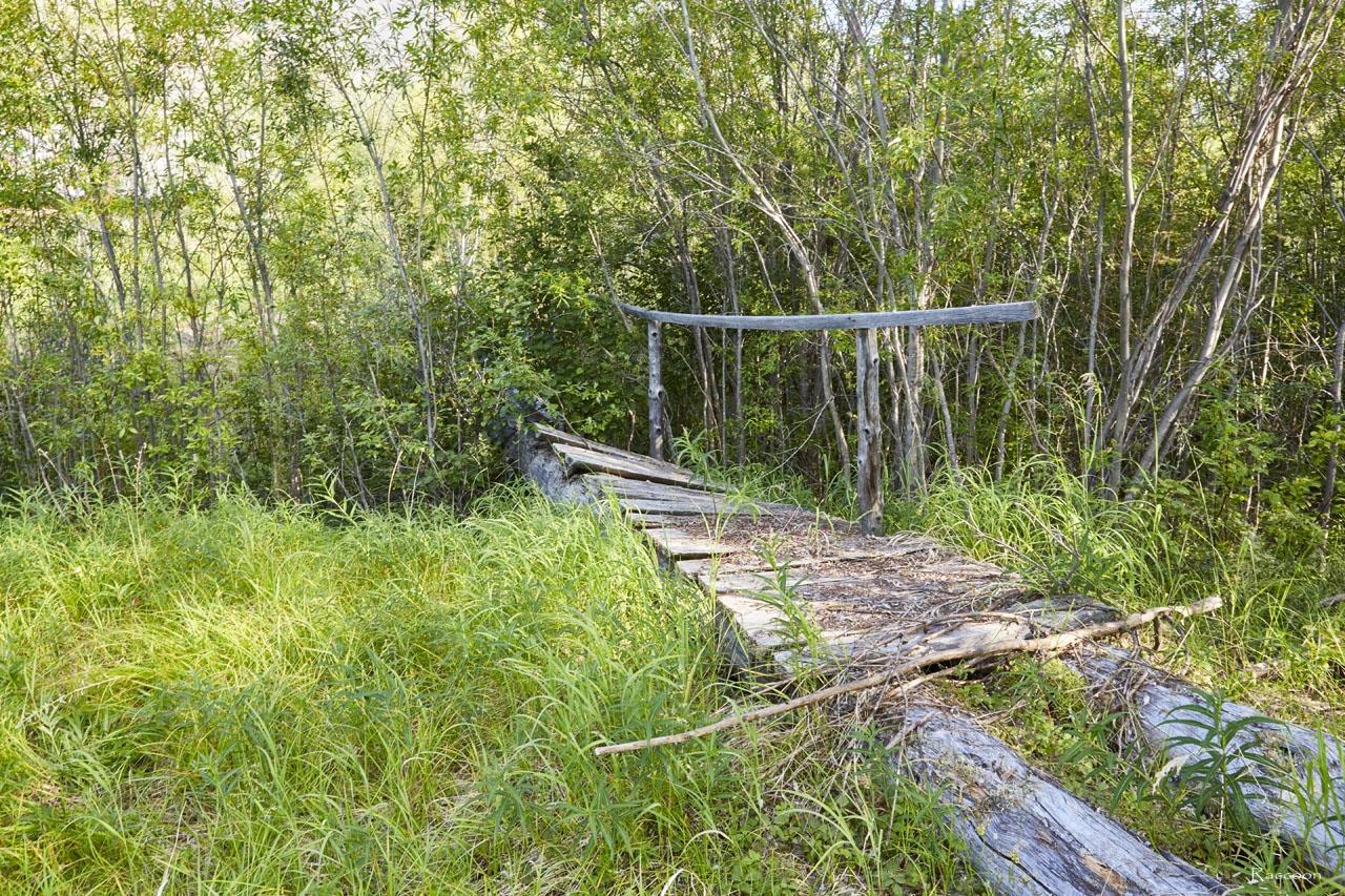 Хениканджа. Мост через протоку.