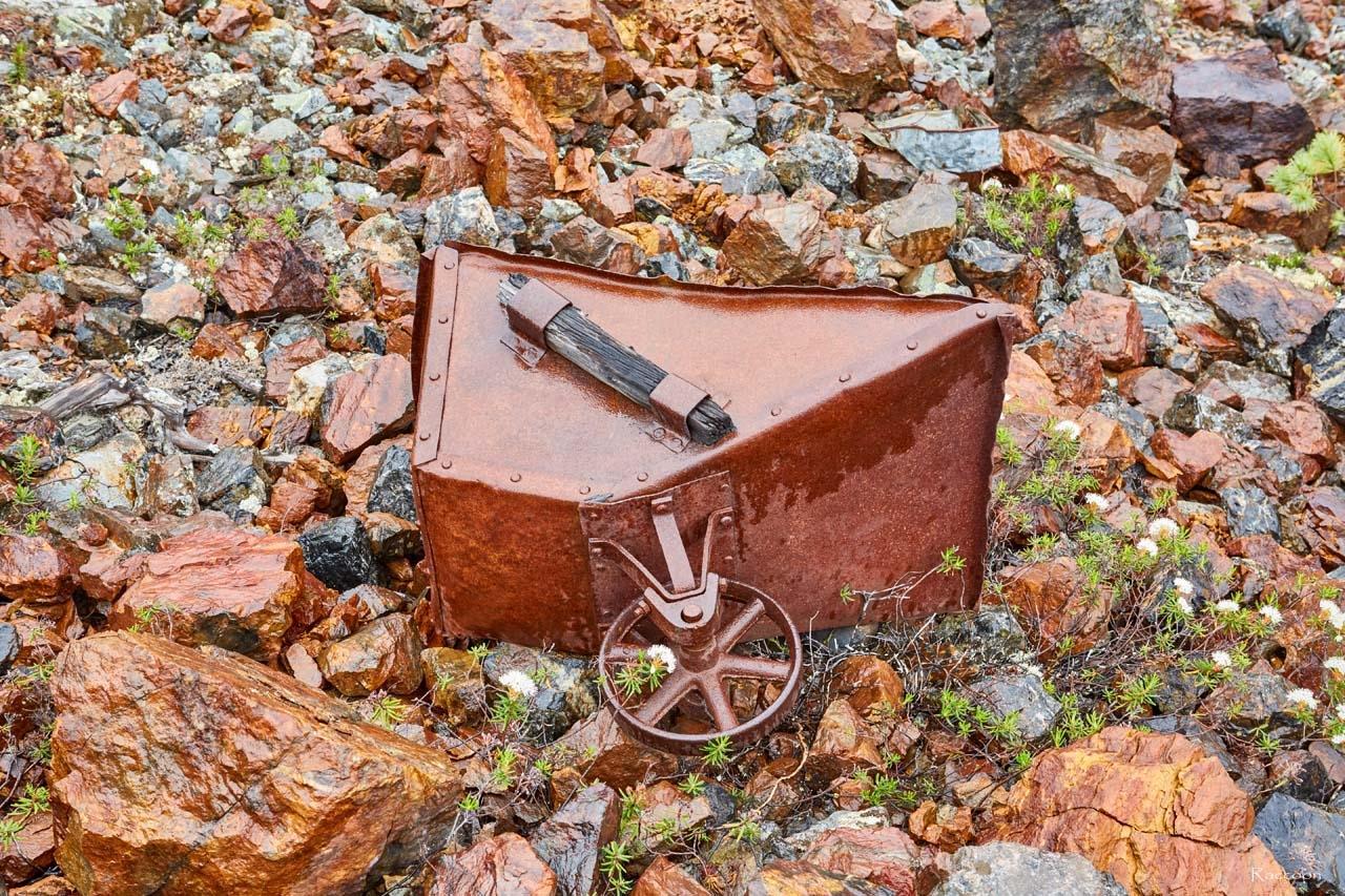 Железная тачка. Рудник Кинжал. 2017 год.