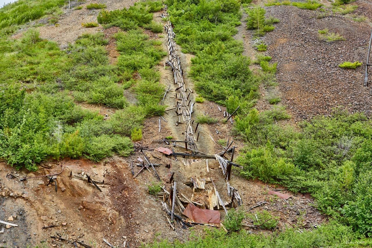 Рудоспуск из шахты.