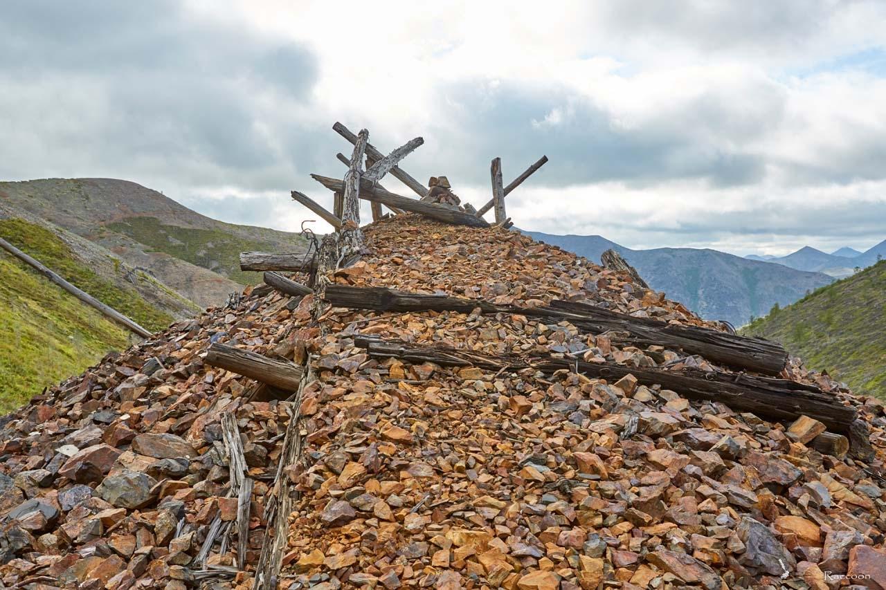 Вершина откатной насыпи.