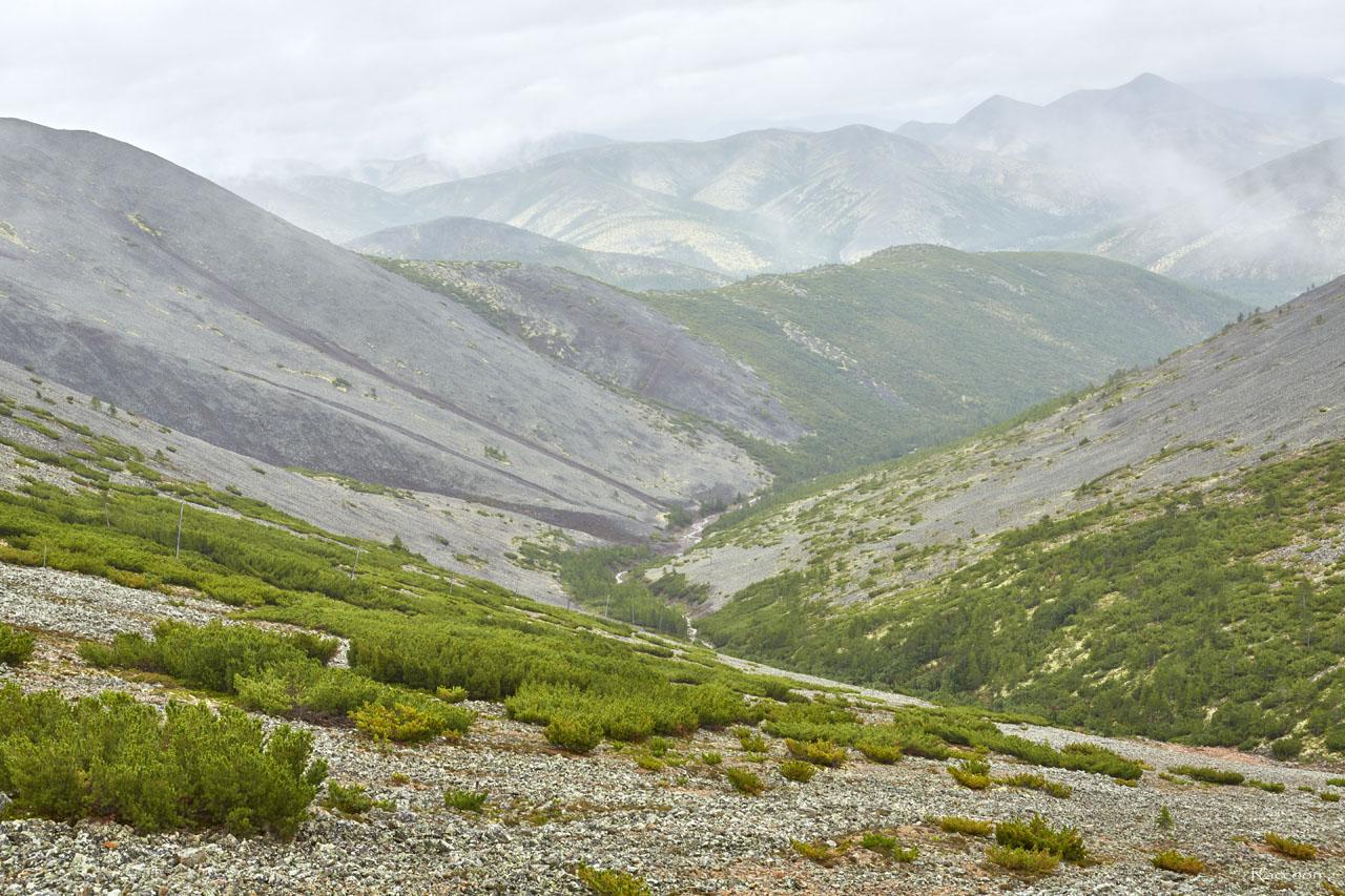 Вид от штольни. Рудник «Сталинградец».