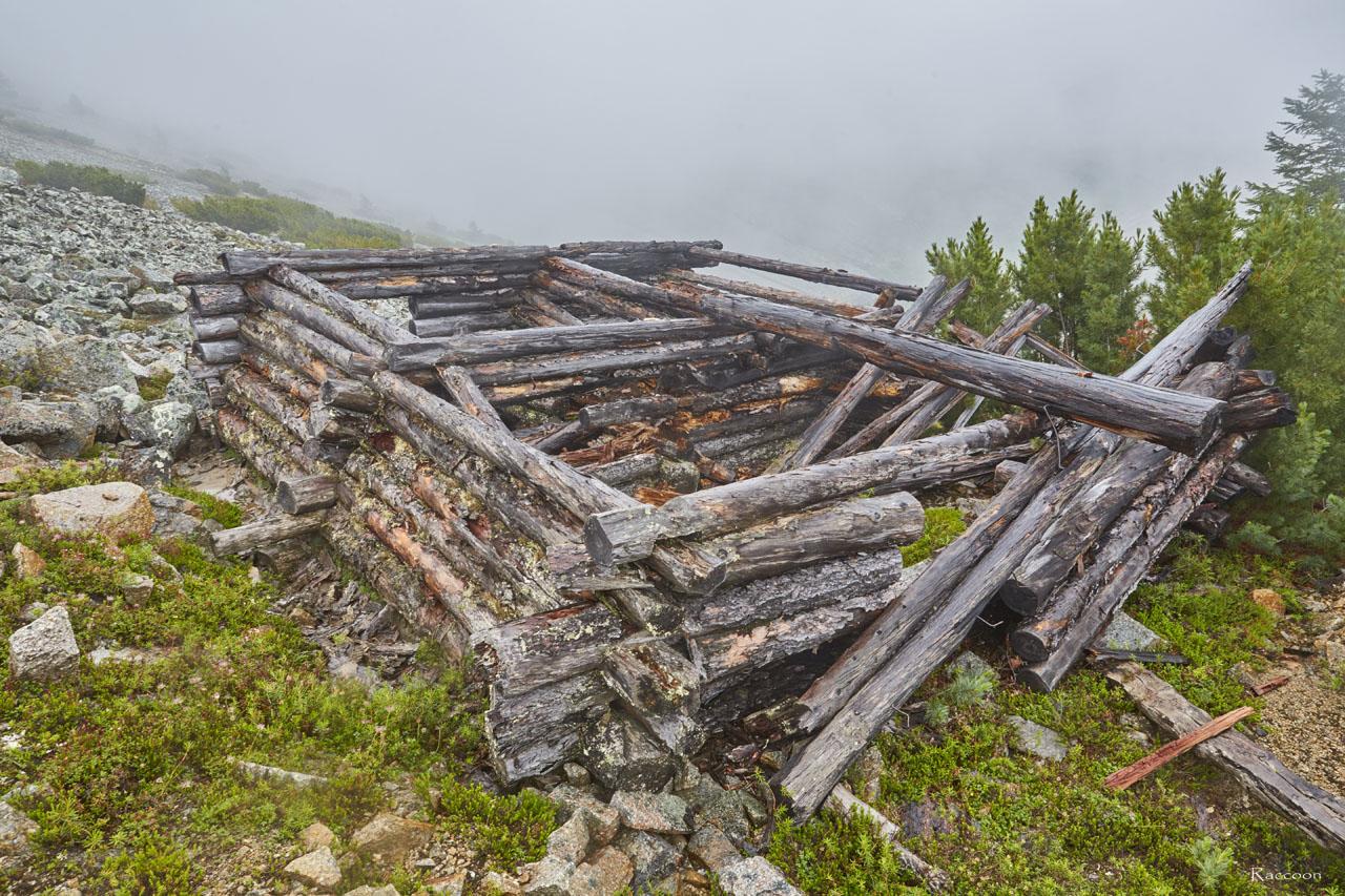 Разрушенное строение.Рудник «Сталинградец».