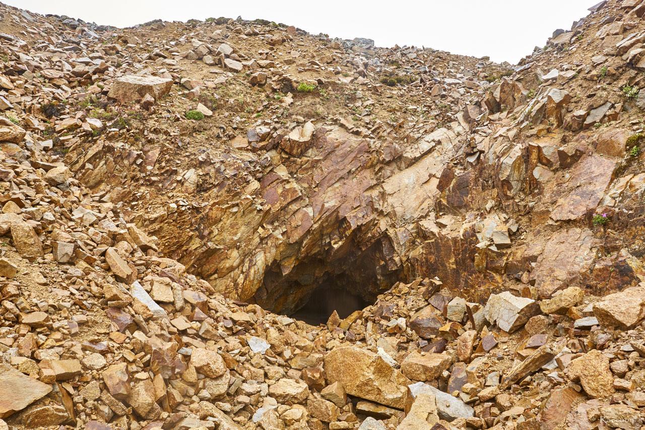 Одна из штолен рудника«Сталинградец».