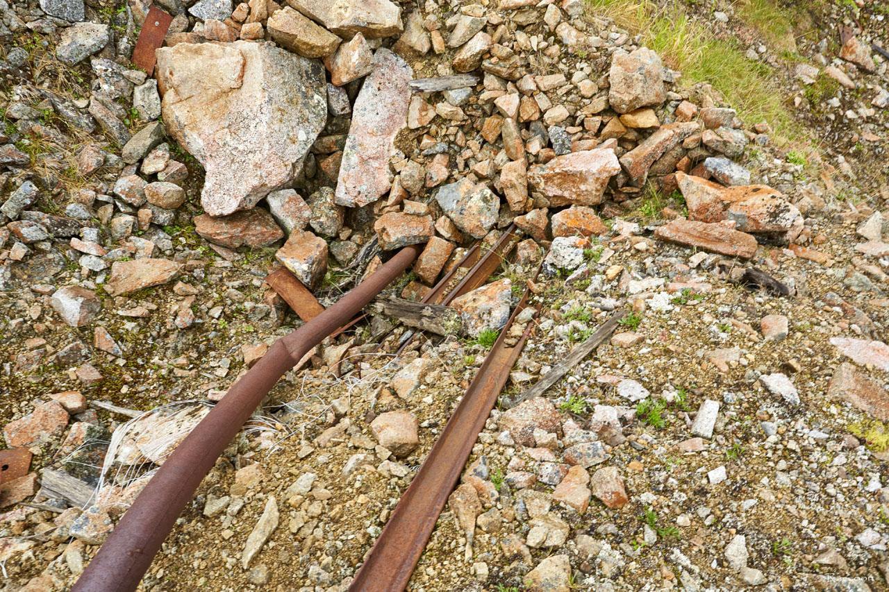 Заваленный вход в шахту на на горном участке «Эдванс».