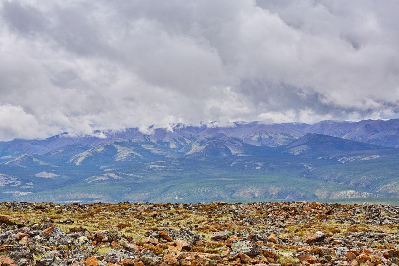 Вид на долину и горы с Урчанского хребта. 2018 год.