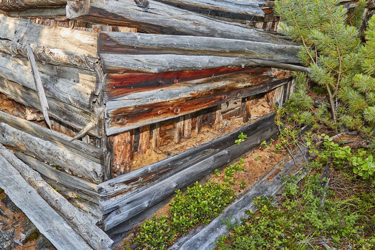 Развалины дома на берегу ручья Бедный. 2019 год.