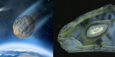 Аризонский метеорит. Агат, р. Рывеем (Чукотка).