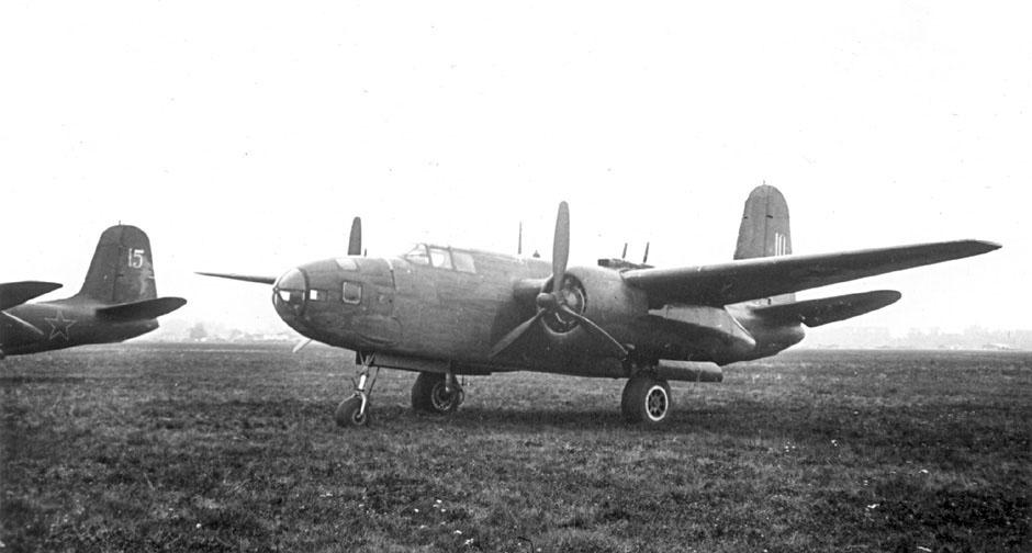 Двухмоторный американский бомбардировщик бомбардировщик А-20 «Бостон». Поставлялся во время Великой Отечественной войны в СССР по ленд-лизу.