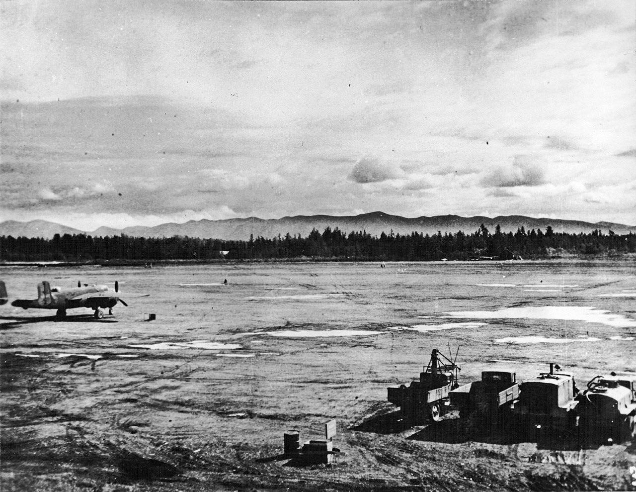 B-25 «Митчелл» на аэродроме Сеймчан.