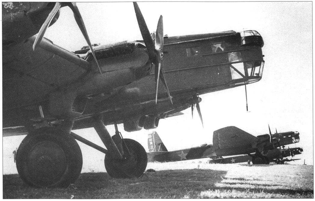 ТБ-3 - советский тяжёлый бомбардировщик, стоявший на вооружении ВВС СССР в 1930-е годы и во время Великой Отечественной войны.