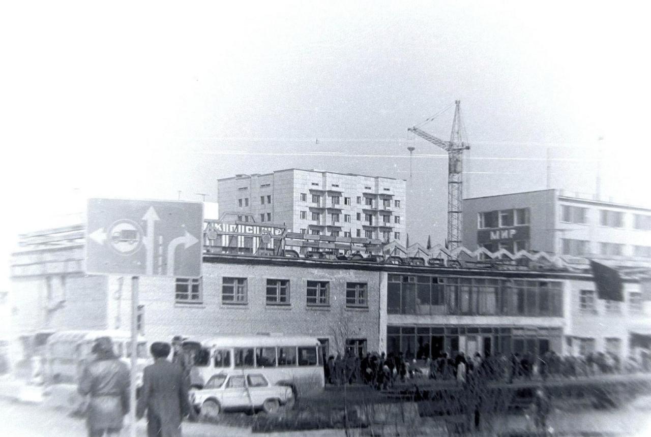 Автовокзал города Магадана.