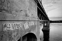 Мост через реку Колыму, 2014 (снесен в 2015)
